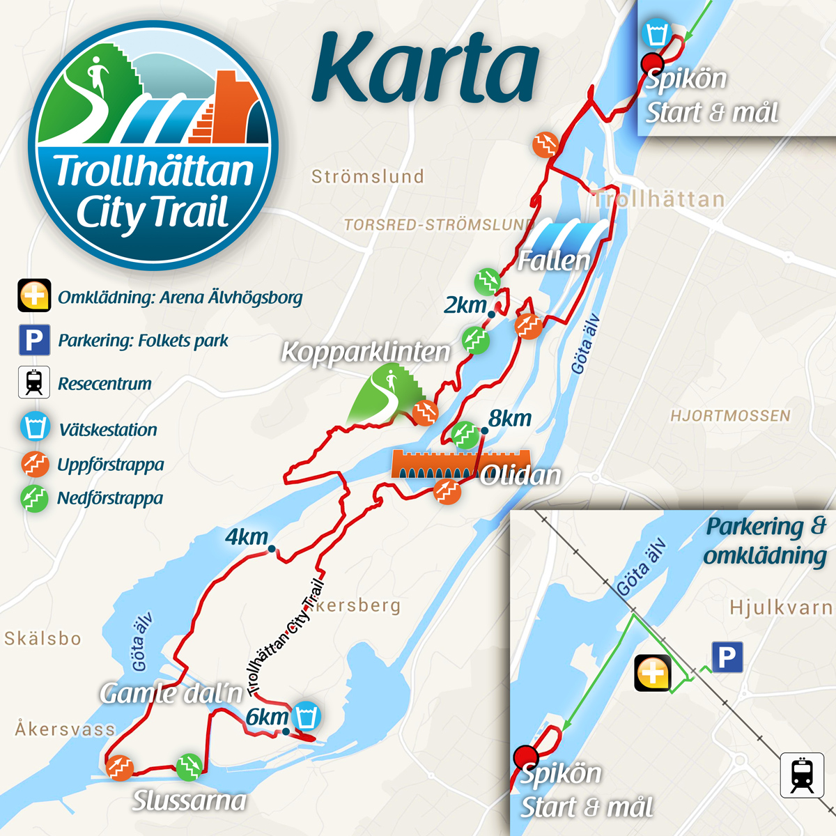 Karta Trollhattan City Trail